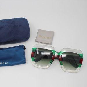 Gucci GG0178S 001 Sunglasses - Multicolor/Green